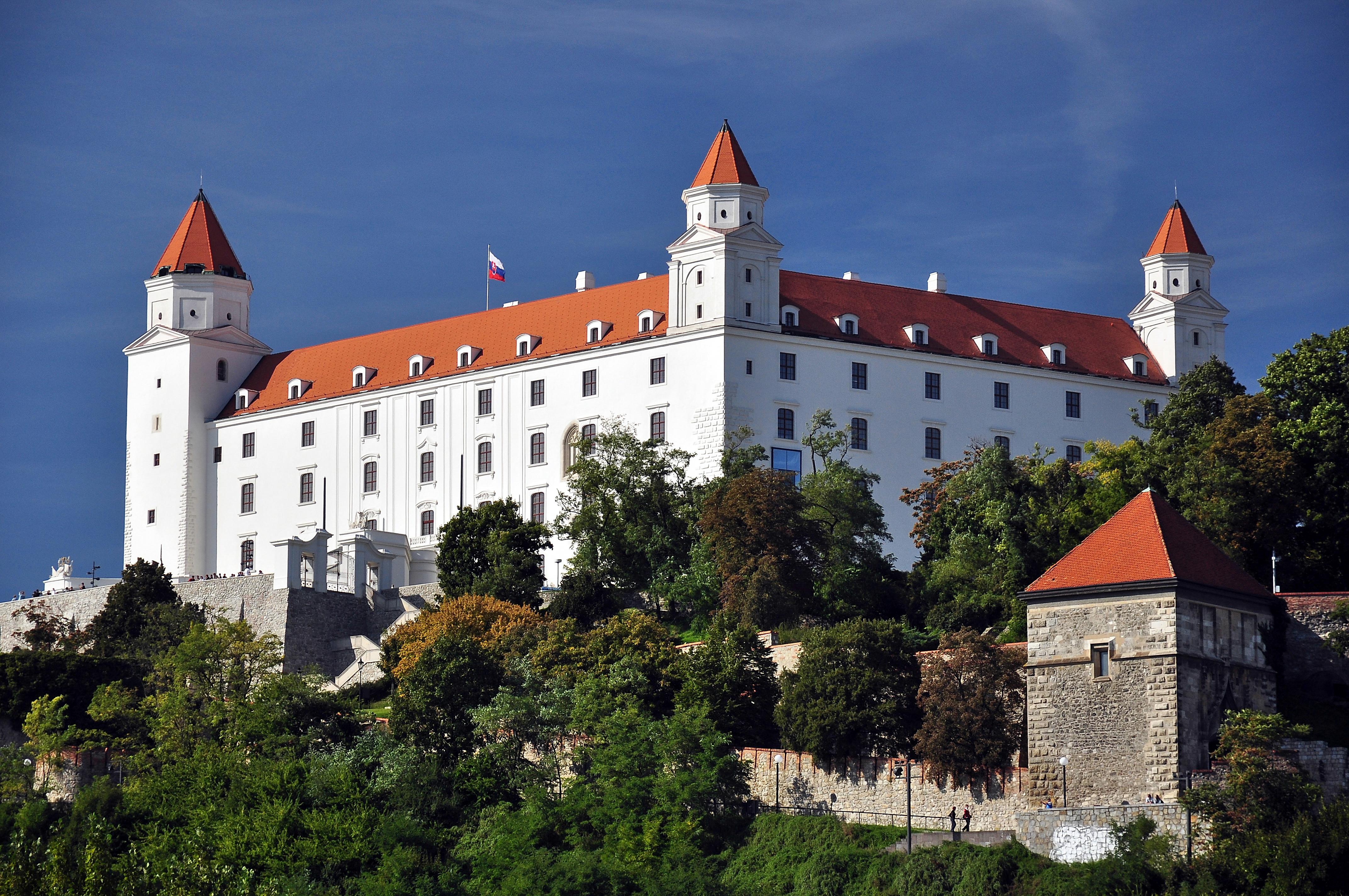 Le château de Bratislava où s'est déroulée la rencontre le 16 septembre 2016.